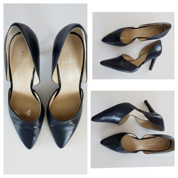 Arrow Navy Blue Heels | Poshmark